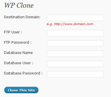 WordPress Clone and Backup