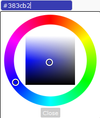 Slide Up Ads Colour Picker