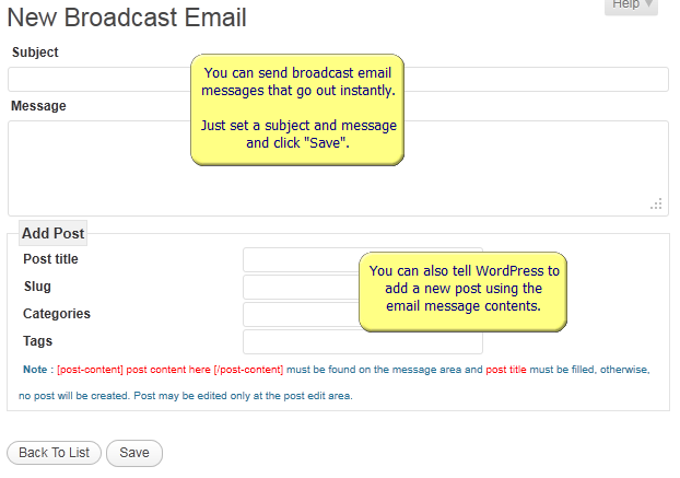WordPress AutoResponder Broadcast