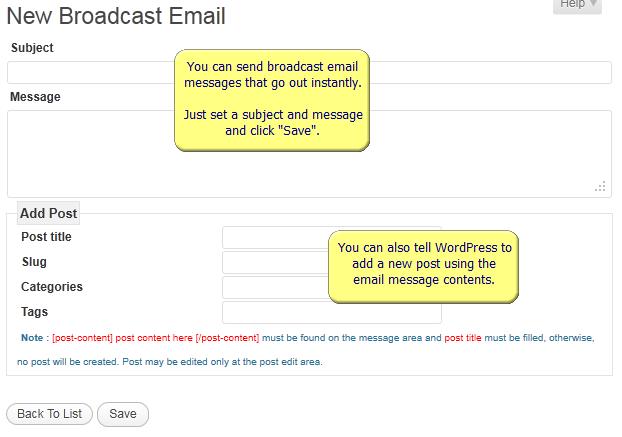WordPress AutoResponder Broadcast