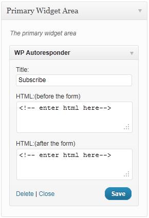 WordPress Autoresponder Widget